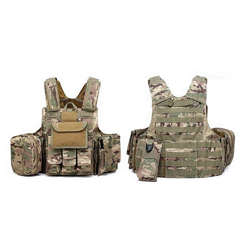 Outdoor Multicam CP ACU Tactical Military Vest Strike Schlacht Kampf Airsoft Molle Angriffs-platten-förder Weste Leichte
