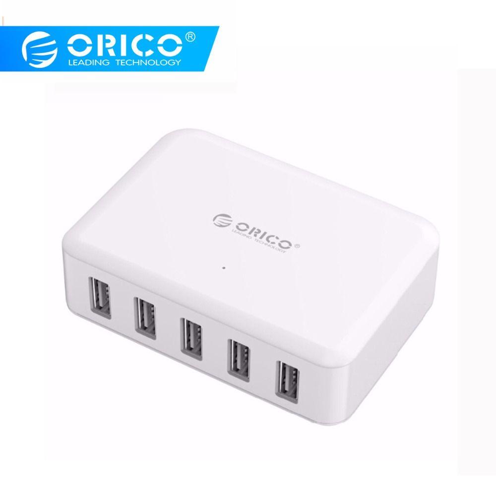 ORICO 5 Ports USB chargeur ABS 5V 8A 40W Mobail téléphone tablette adaptateur pour iPhone x 5 6 7 Galaxy S7 Xiaomi Huawei 5 chargeur de téléphone