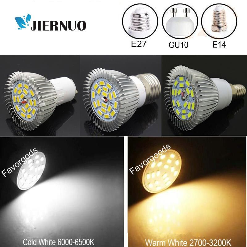 Scheinwerfer 10 Watt E14 E27 GU10 SMD 5730 18 leds warme's kalt weiß strahler leuchte lampe birnen AC90-265V AE