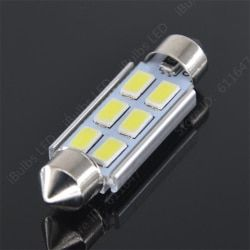 10Pcs Hot Products Festoon C5W 31mm  36mm  39mm 41mm 6 SMD 5630 LED CANBUS No Error Car Interior Reading Dome light DC12V