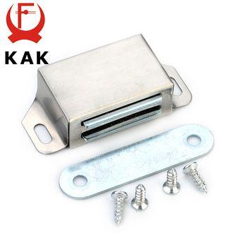 KAK-519 Acier Inoxydable Magnétique Cabinet Captures Pousser pour Ouvrir Tactile Cuisine Porte D'arrêt Damper Tampons Avec Vis Pour Le Matériel