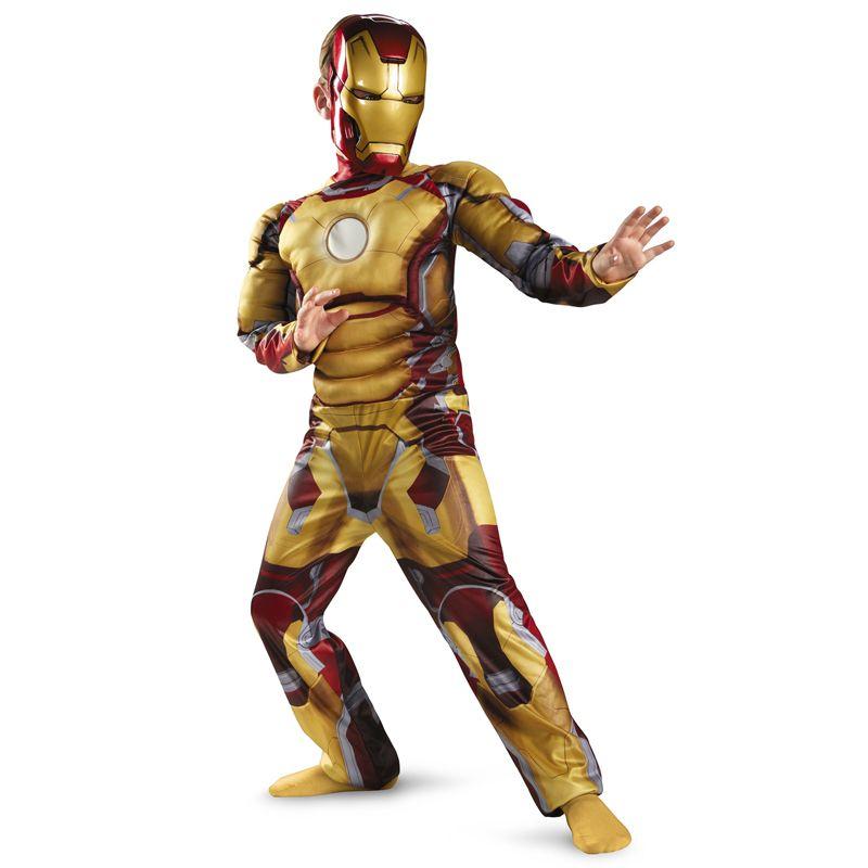 Genuine Kids Avengers Iron Man Mark 42 / Patriot Muscle Child Halloween Costume Boys Marvel Movie Superhero Cosplay Clothing
