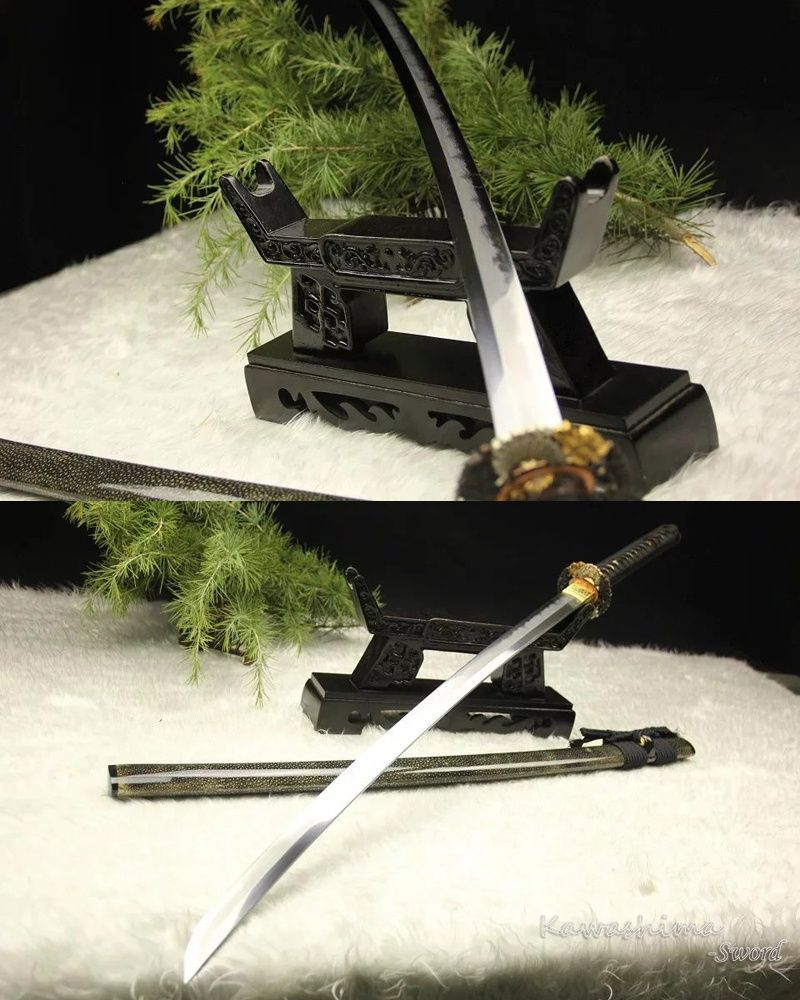 Überlegene Qualität Volle Handgemachte Japanische Katana Kobuse Gefaltet Stahl Ton Gehärtetem Echt Hamon Rochenhaut Scheide Samurai Schwert