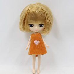 Telanjang Blyth Doll Mini Blyth Coklat Bob Rambut 10 Cm Tinggi Cocok untuk Perubahan DIY Pabrik Mainan Blyth