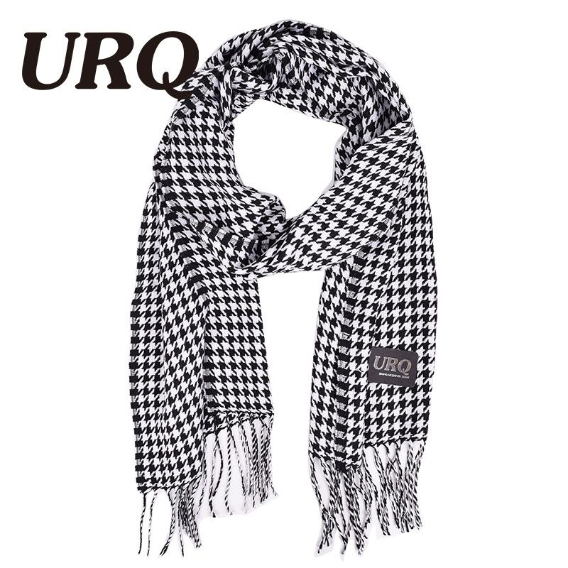 2016 autumn and winter female male houndstooth man scarves cape all-match design long plaid scarves  A3A17657