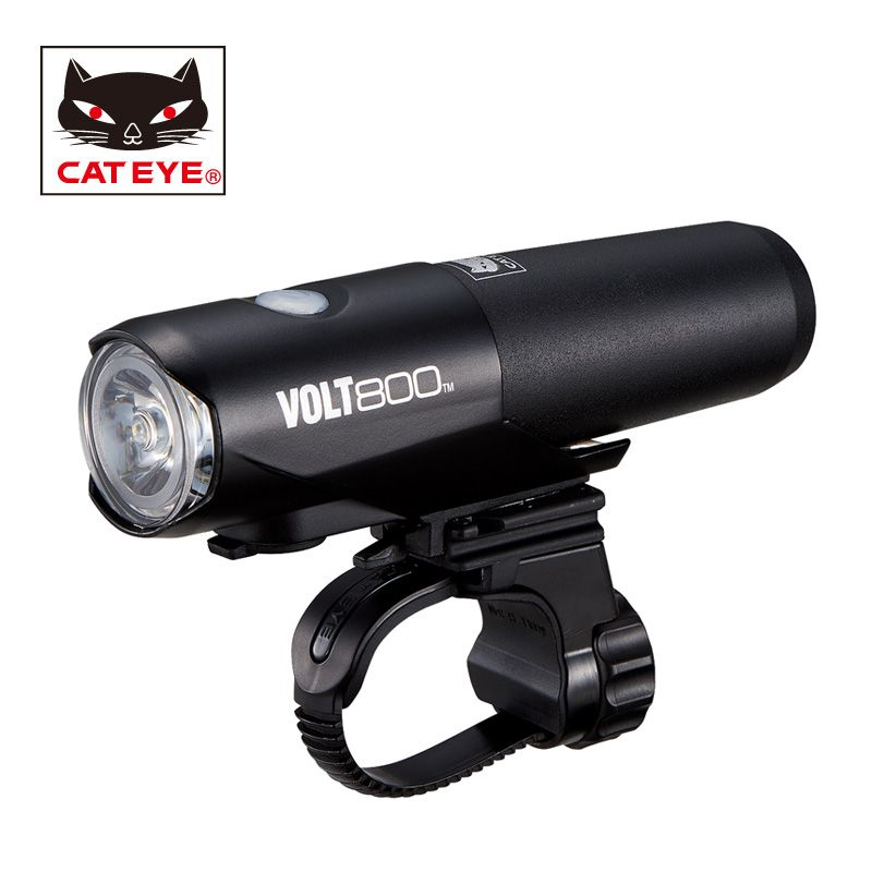 CATEYE Bicycle Headlight Cycling Handlebar Front Lamp Lights Bike USB Rechargeable Waterproof Lights Bicycle Accessories VOLT800