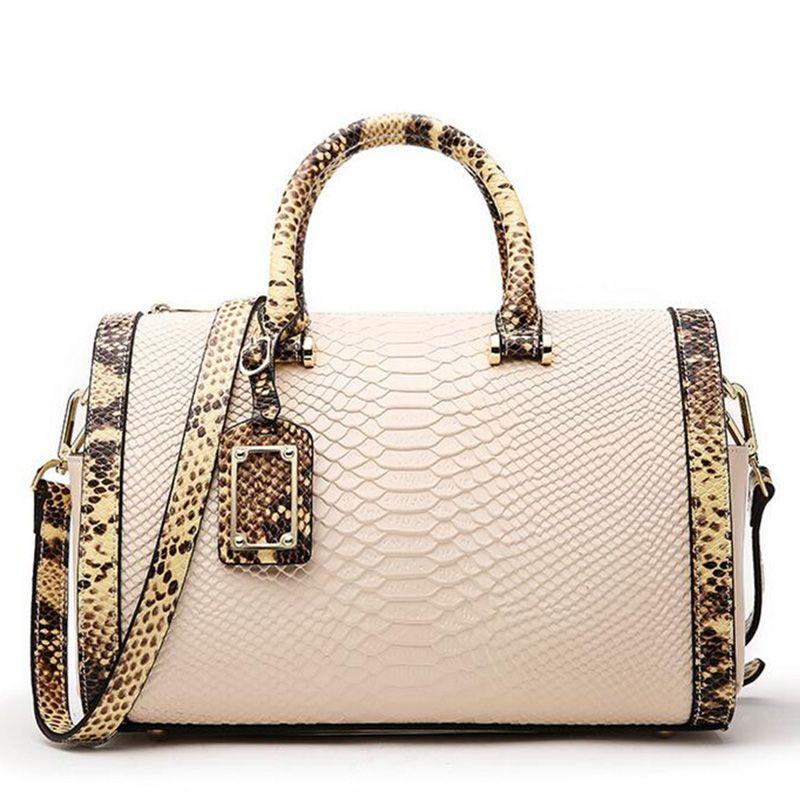 Genuine Leather Bag Alligator Luxury Handbags Women Bags Designer Snake Famous Brand Women Handbags 2018 Women Messenger Bags