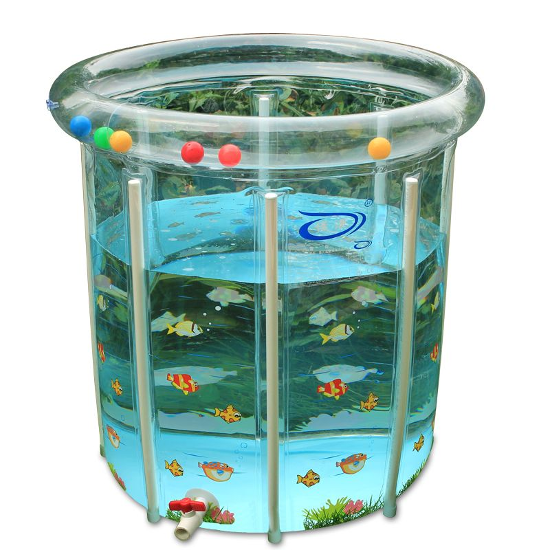 New Newborn Baby Swimming Pool Baby Play Pool Thickened Insulation Transparent Support Swimming Pool Children Bath Tub