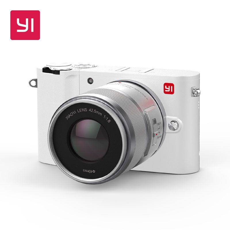 YI M1 Mirrorless Digital Camera Prime Zoom LCD 2 Lens Minimalist BLE WIFI RAW 20MP Video Recorder International Version White