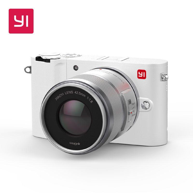 YI M1 Mirrorless Digital Camera Prime Zoom LCD 2 Lens Minimalist BLE WIFI RAW 20MP Video Recorder International Version White