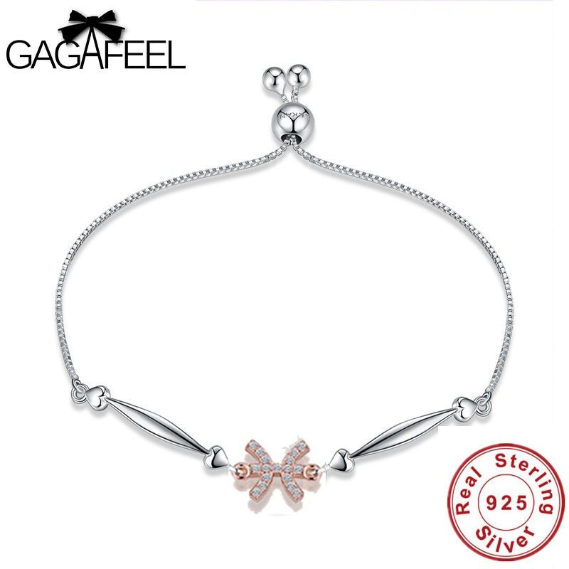 Gagafeel Authentic 925 Sterling Silver Women Bracelets Trendy 12 Constellations Pisces Jewelry Bracelet Star Sign Wedding Charms