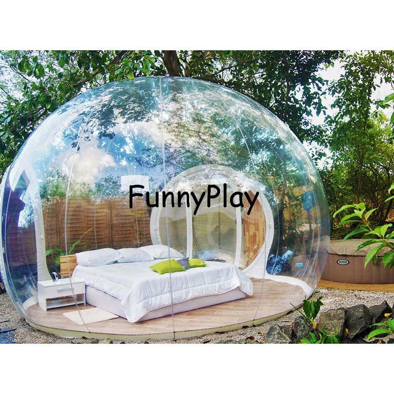 Aufblasbaren Zelt Haus, Outdoor Klar Aufblasbaren Luftkuppelzelte, freienspiel leichte zelte, aufblasbares zelt camping