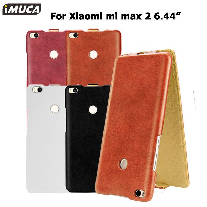 Xiaomi mi max 2 flip luxe housse en cuir pour xiaomi mi max 2 max2 iMUCA Cas de Téléphone de Couverture Arrière