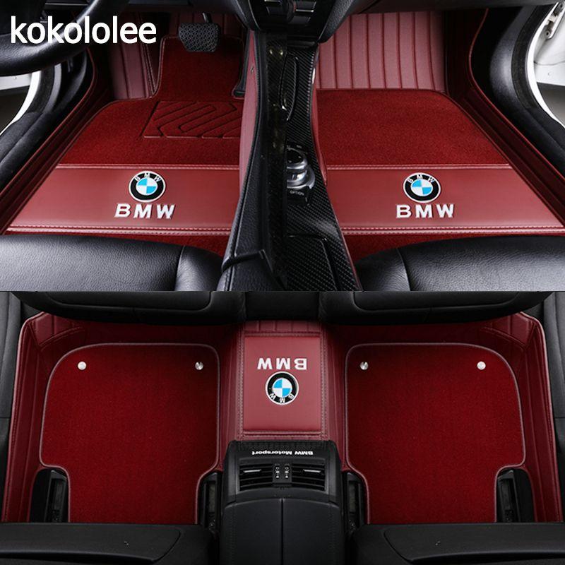 kokololee Custom car floor mats For BMW all models X3 X1 X4 X5 X6 Z4 f30 f10 f11 f25 f15 f34 e46 e90 e60 e39 e84 e83 e70 e53 g30