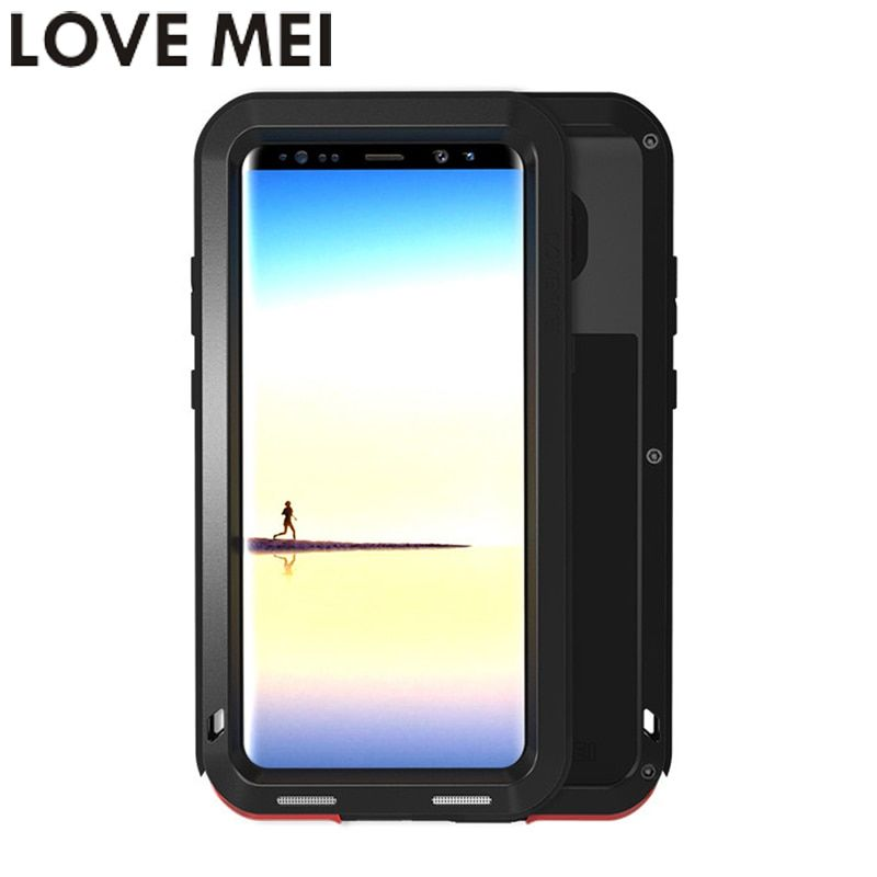 LOVE MEI Powerful Phone Case For Samsung Galaxy Note 8 Note8 SM-N950F Cover Heavy Duty Case Silicone TPU & Hard Metal Back Cover