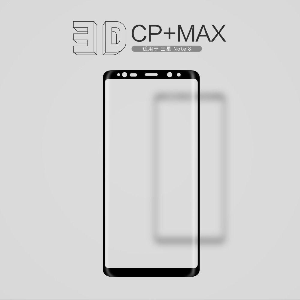 NILLKIN Erstaunlich 3D CP + MAX Nanometer Anti-Explosion 9 H Hartglas Displayschutzfolie Für Samsung Galaxy Note 8 Glas film