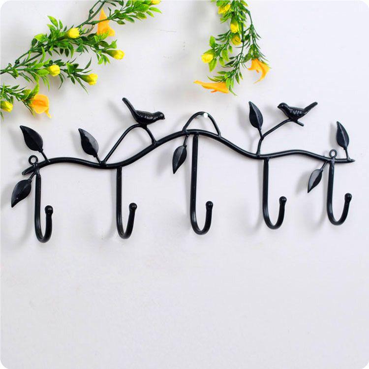 Кованые крюк птицы двери крючок легко и просто украшения