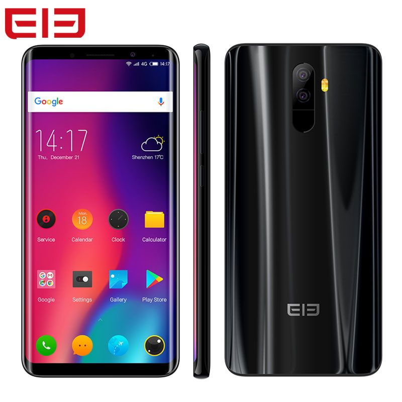Elephone U Pro Smartphone 5.99''Face ID NFC Android 8.0 6GB RAM 128GB Octa Core 2160*1080 13.0MP Fingerprint Lte 4G Cell Phone