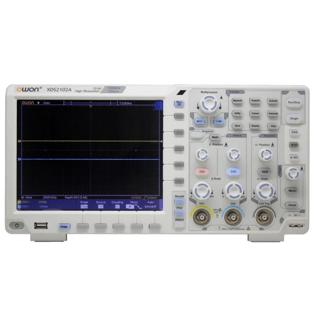 OWON XDS2102A 100 MHz 12 bits Hoher Auflösung ADC Digital Oszilloskop 12bit ADC decode XDS2102A