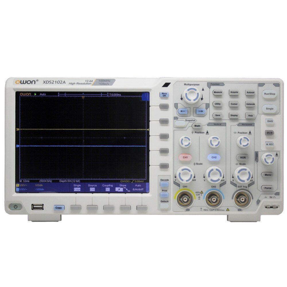 OWON XDS2102A 100MHz 12 bits High Resolution ADC Digital Oscilloscope 12bit ADC decode XDS2102A