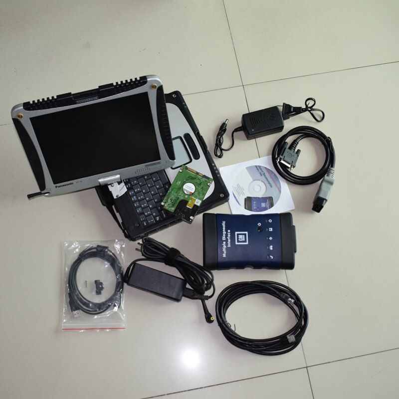Auto Diagnostic Tool WIFI MDI Multiple Diagnostic Interface High Quality MDI with CF-19 Laptop Software Installed Well