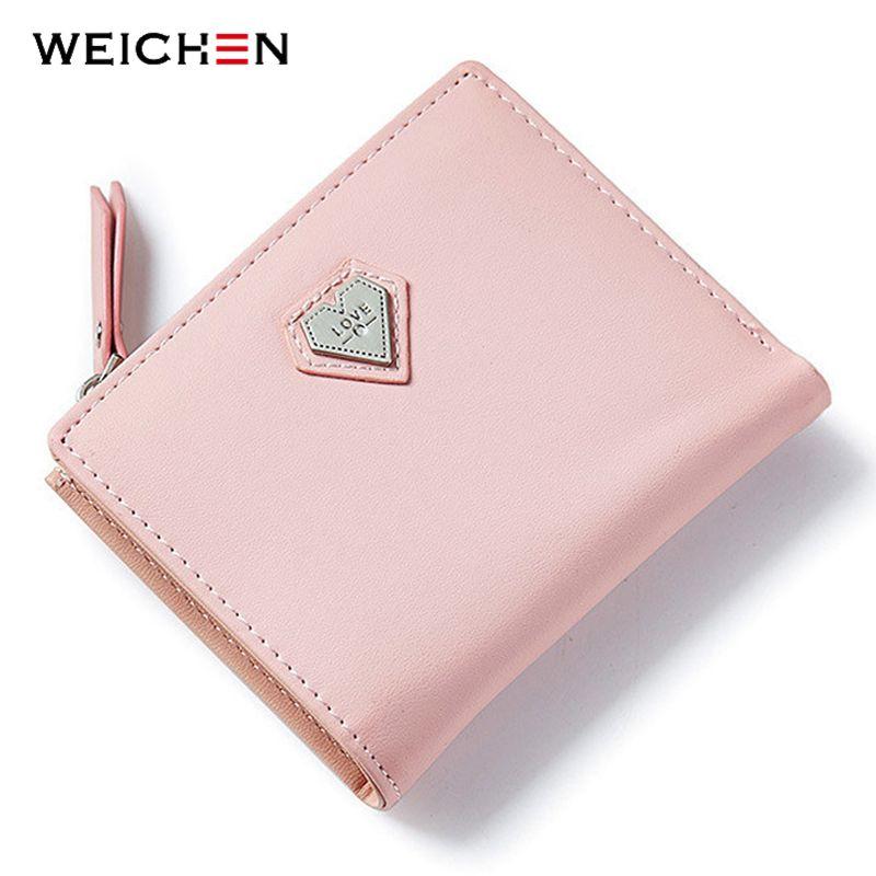 Weichen розовый сердце любовь короткие бумажник кошелек для модных леди, прекрасный мини день сцепления и Малый Для женщин кошелек для карт мон...