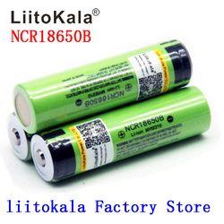 2019 Новый Liitokala 18650 Батарея 3400 mAh 3,7 V Li-Ion NCR18650B Батарея 18650 Перезаряжаемые для фонарика (NO печатной платы)