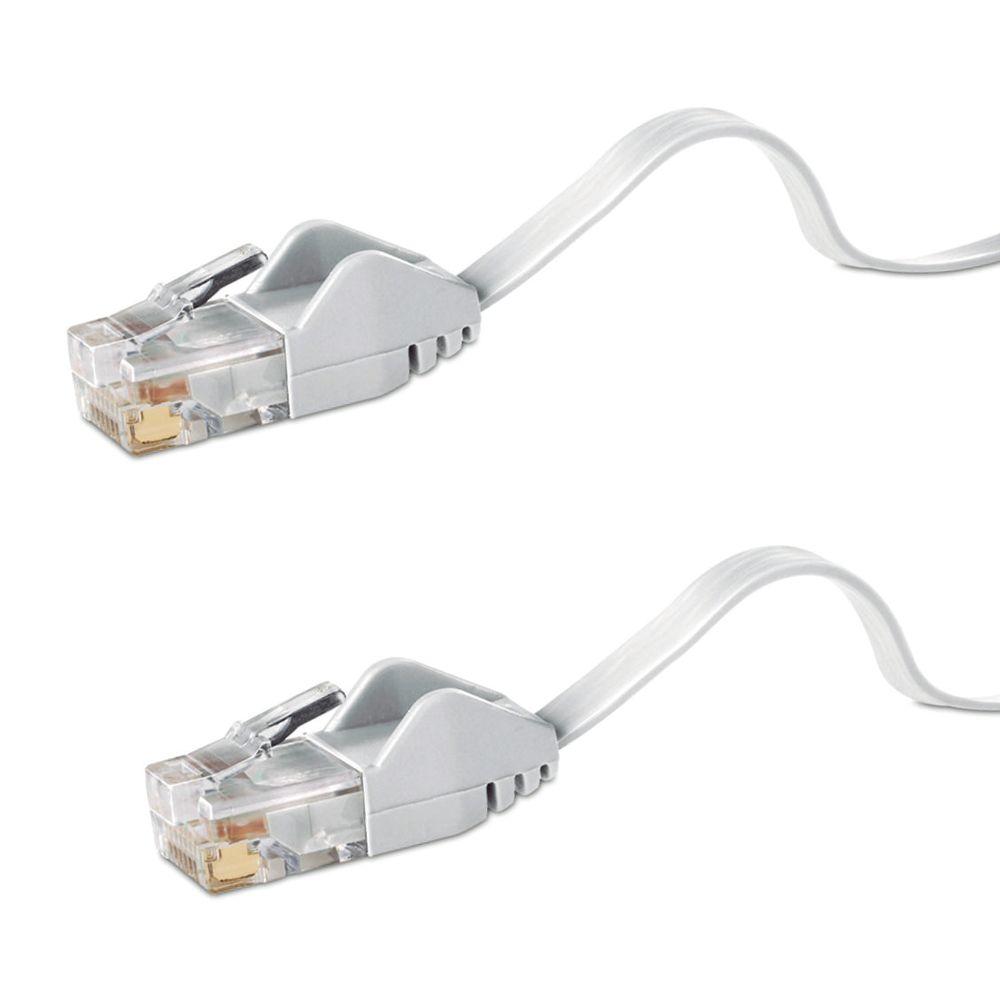 Livraison gratuite 30 m plat CAT6 câble CHAT 6 30 m Plat UTP Ethernet Réseau Câble RJ45 Patch LAN Cordon