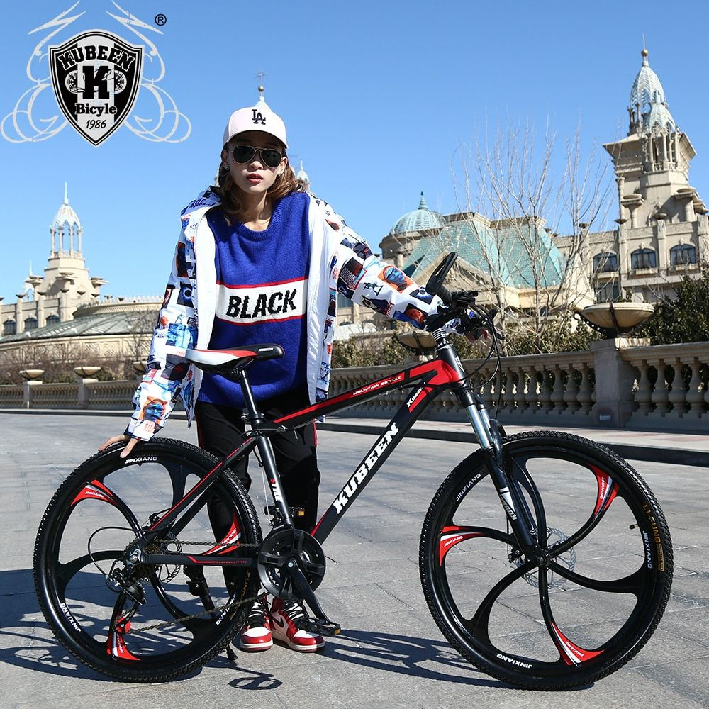 High quality 26 inch bike steel 21 speed aluminum <font><b>frame</b></font> mountain bike skateboard pedal oil spring shock absorber double disc bra