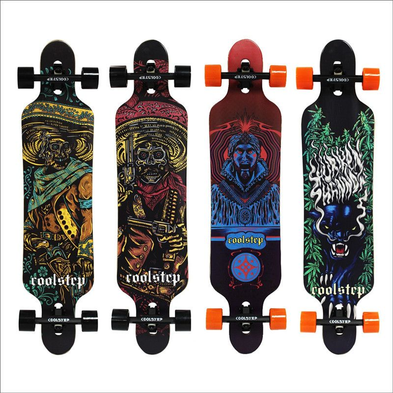 Professional Skateboard Canadian Maple Longboard Skate Board 4 Wheel Downhill Street Long Board Dance Board Roller Driftboard