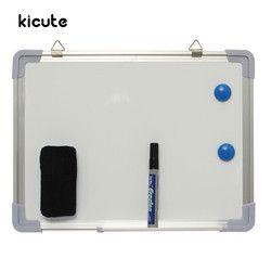 Kicute 300x400 мм магнитная доска для письма двухсторонняя с ручкой стирания магниты кнопки для офиса школы