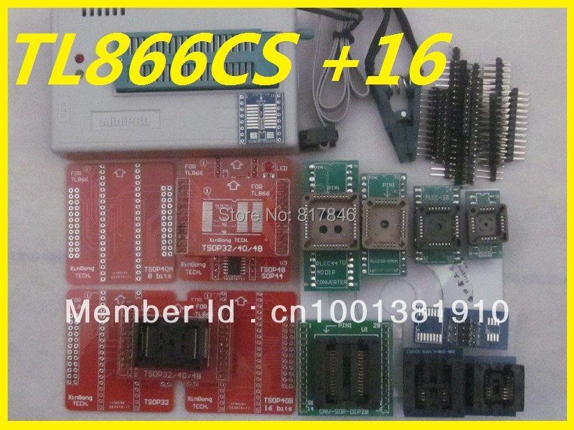 Freies Verschiffen V6.6 MiniPro TL866CS PIC AVR EEPROM High Speed USB Universal Programmer + 15 adapter + SOIC8 Clip