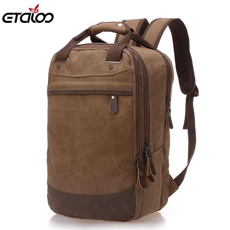 Фабрика Прямая международная поставка тенденция случайные холст мешок человек компьютер рюкзак студенческого досуга сумки на плечо