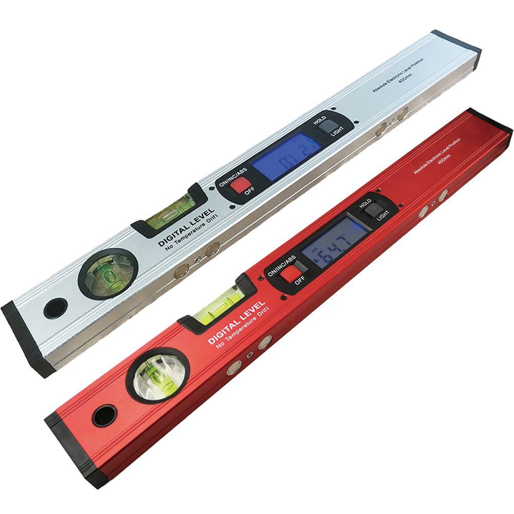 Inclinomètre de détecteur d'angle rapporteur numérique niveau électronique 360 degrés avec/sans aimants règle de test de pente d'angle de niveau 400mm