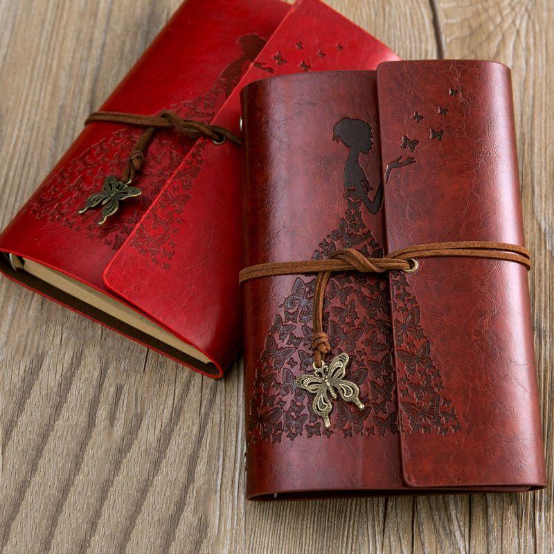Ruize путешествия Журнал Ноутбук Винтаж кожа дневник пустой крафт-бумага Sketchbook записная книжка с коробкой лучшее для канцелярские подарок