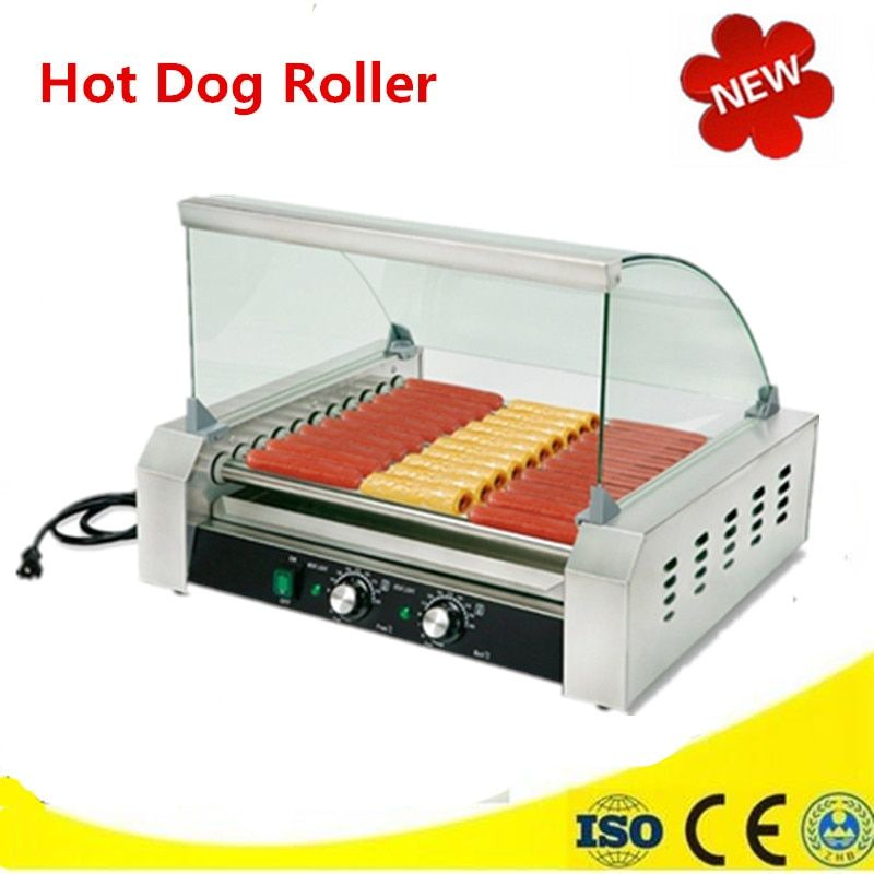 Automatic Electric Hot Dog Roller Mini Household Commercial Sausage Grill Maker Food Warmer Machine