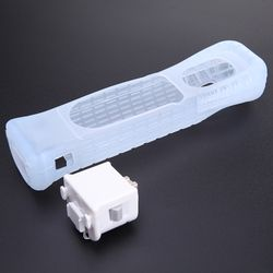 Hot Selling White Motion Plus Adapter Sensor + Silicone Case for Nintendo For Wii Remote Console