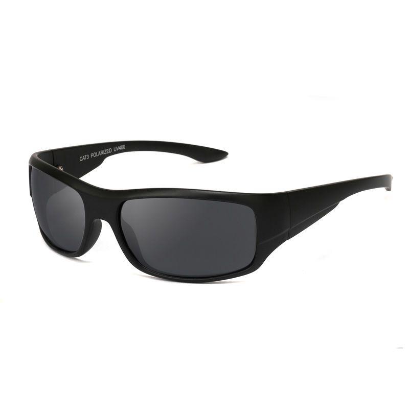 UV400 hommes lunettes De soleil polarisées noir cadre haute qualité lunettes Sport Oculos pêche cyclisme Gafas De Sol Polarizadas