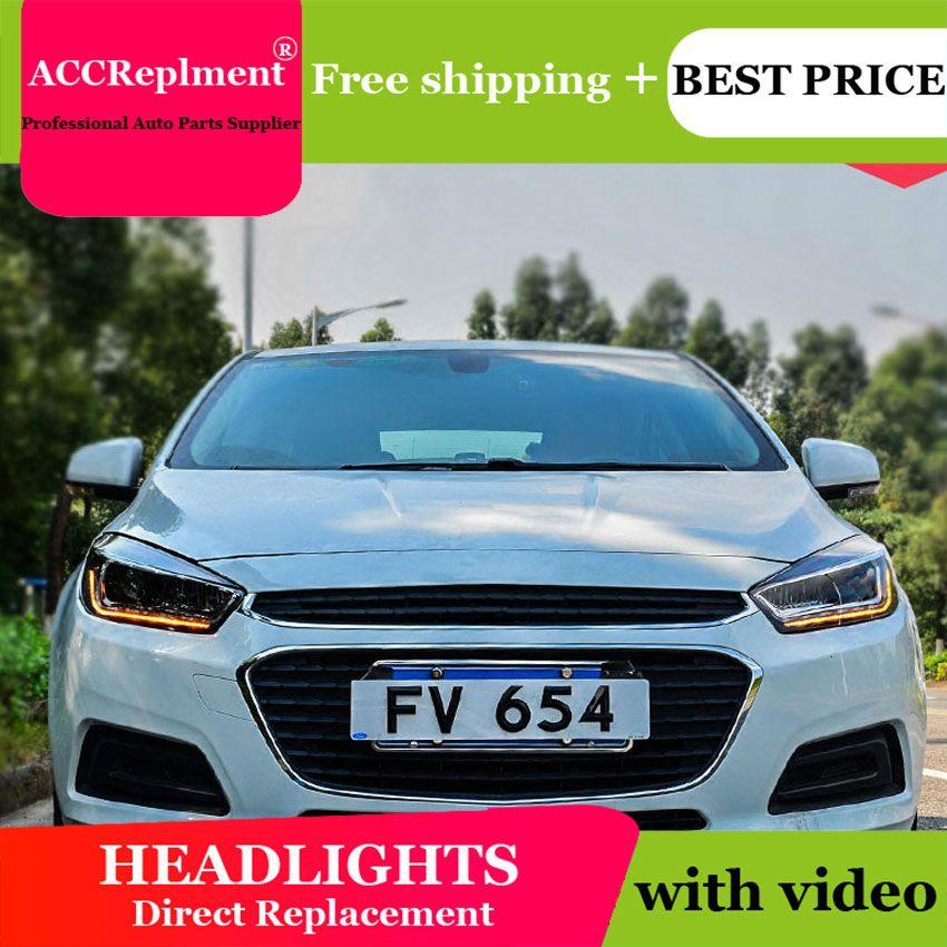 Auto styling Für Chevrolet CRUZE scheinwerfer U engel augen 2015 Für Chevrolet CRUZE LED licht bar Q5 bi xenon objektiv led-lampe