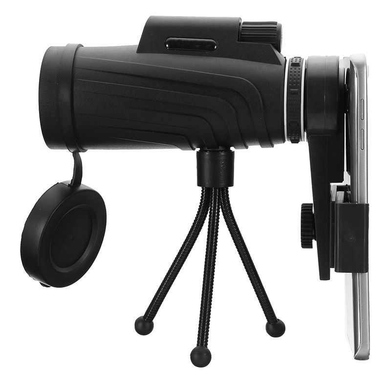 40X60 HD Zoom Lens Monocular Telescope + Tripod + Clip for Samsung for iPhone Xiaomi Huawei Camping Travel Waterproof Phone Lens