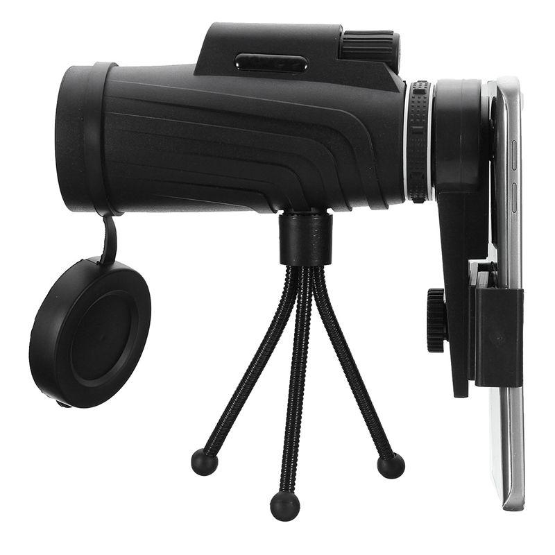 40X60 HD Zoom Monoculaire Télescope + Trépied + Clip pour Samsung pour iPhone Xiaomi Huawei Camping Voyage Étanche Téléphone lentille