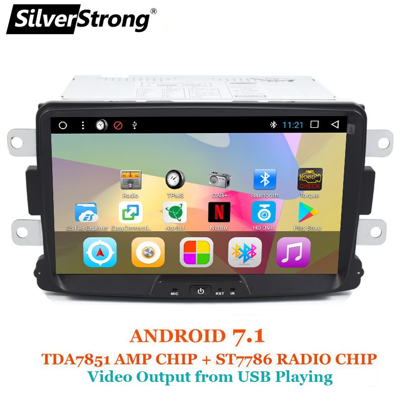 SilverStrong 1Din 8 Inch Android Quad Core Car Radio GPS For Renault LOGAN II Duster DACIA DOKKER Dacia