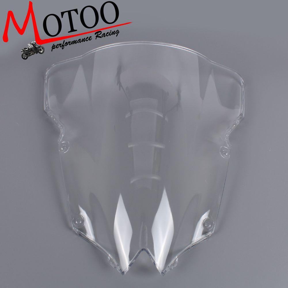 Motoo - Motorcycle Wind Deflectors Wind shield Windshield WindScreen Double Bubble FOR YAMAHA YZF-R6 R6 2008-2015