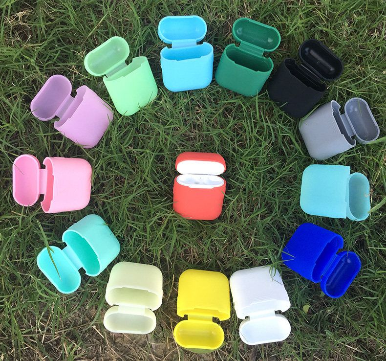 Sikai для Apple airpods с Бесплатная ремешок силиконовый чехол для airpods зарядки защитный чехол наушников чехол для воздуха стручки коробка