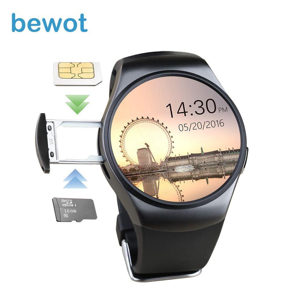 Bewot Смарт-часы SmartWatch kw18 Bluetooth 4.0 Носимых устройств с сердечного ритма Мониторы сна Мониторы mt2502c для iOS и Android