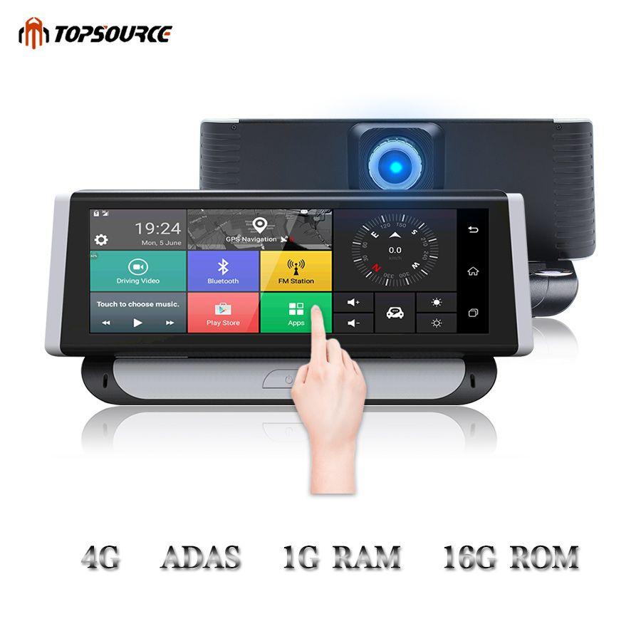 TOPSOURCE Auto DVR 4g ADAS GPS Navigation Volle HD 1080 p 6,86