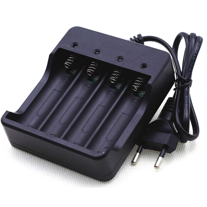 VariCore 3.7V 18650 Charger Li-ion Battery 4.2V Four Slot Line Charge Full from Shutdown Factory Fashlight batteries Charger