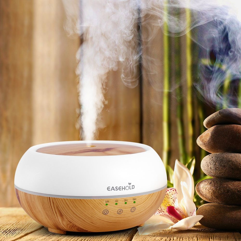 Easehold 300ml Aroma Essential Oil Diffuser Ultrasonic <font><b>Cool</b></font> Mist Humidifier LED Night Light for Office Home Bedroom Living Room