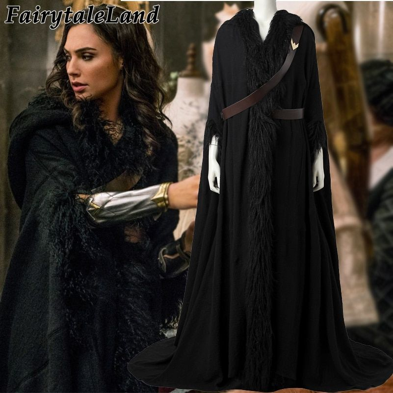 2017 Wonder Woman Diana Prince cosplay cloak Halloween costumes Movie Wonder Woman costume coat superhero clothing custom made