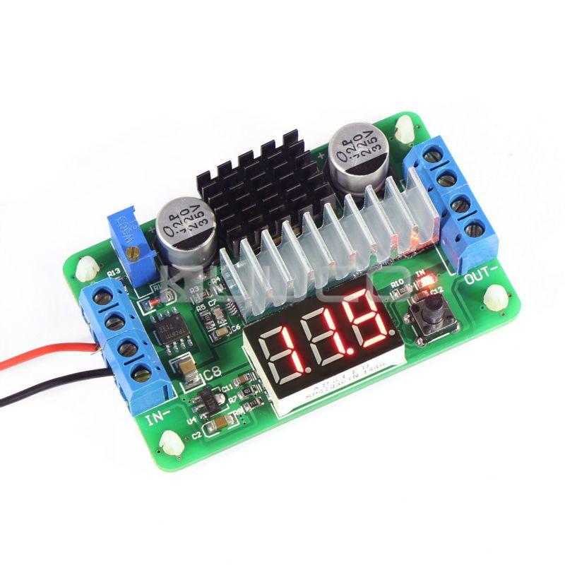 Mini LTC1871 100 W / 6A DC Source Step Up convertisseur DC DC 3.5 V - 30 V 6A 100 W convertisseurs réglables + LED rouge voltmètre # 090081